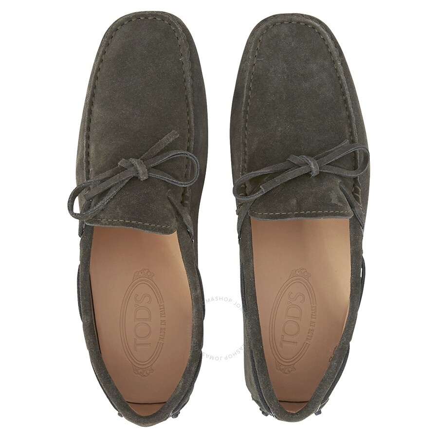 5921bc4f0c9 ... XXM0GW05470RE0GR Tod s Suede Loafers Mocassino Laccetto Gommini -Dark  Green XXM0GW05470RE0GR ...