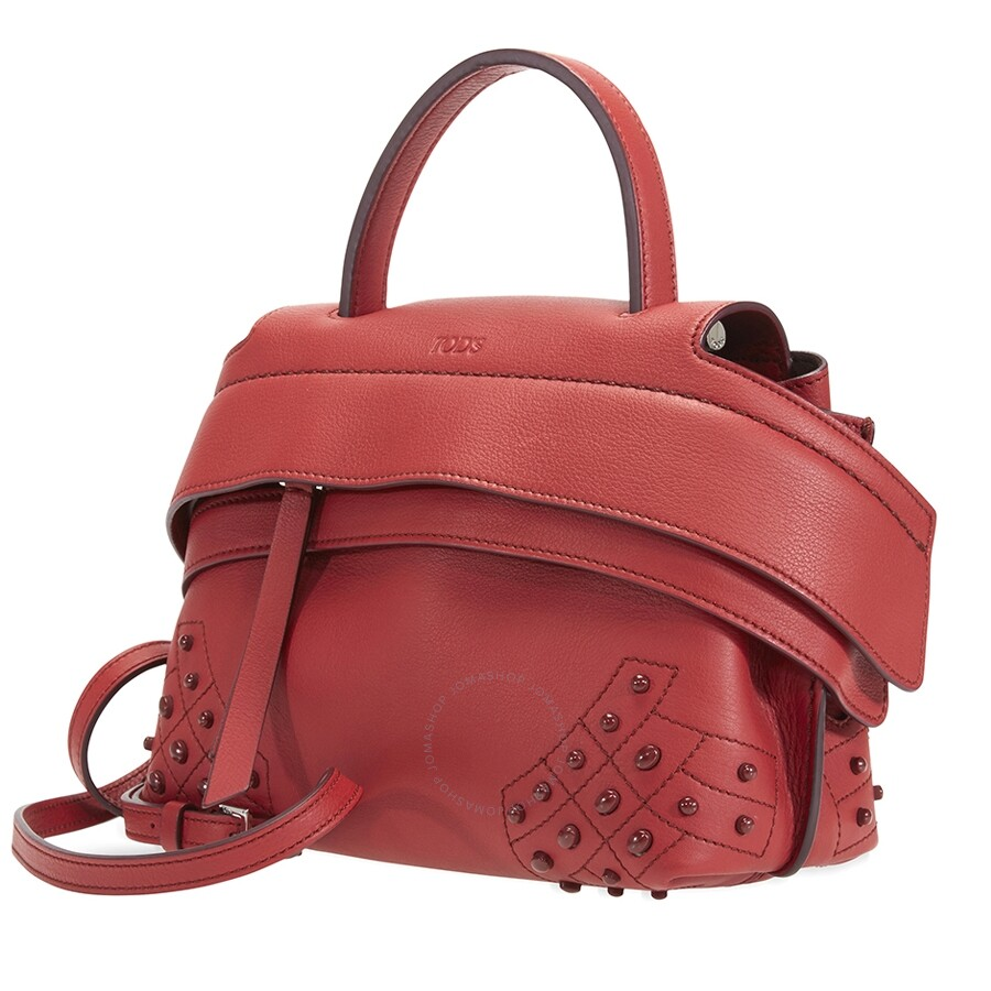 44321f8bb6 Tod's Wave Crossbody Bag- Red - Tods - Handbags - Jomashop