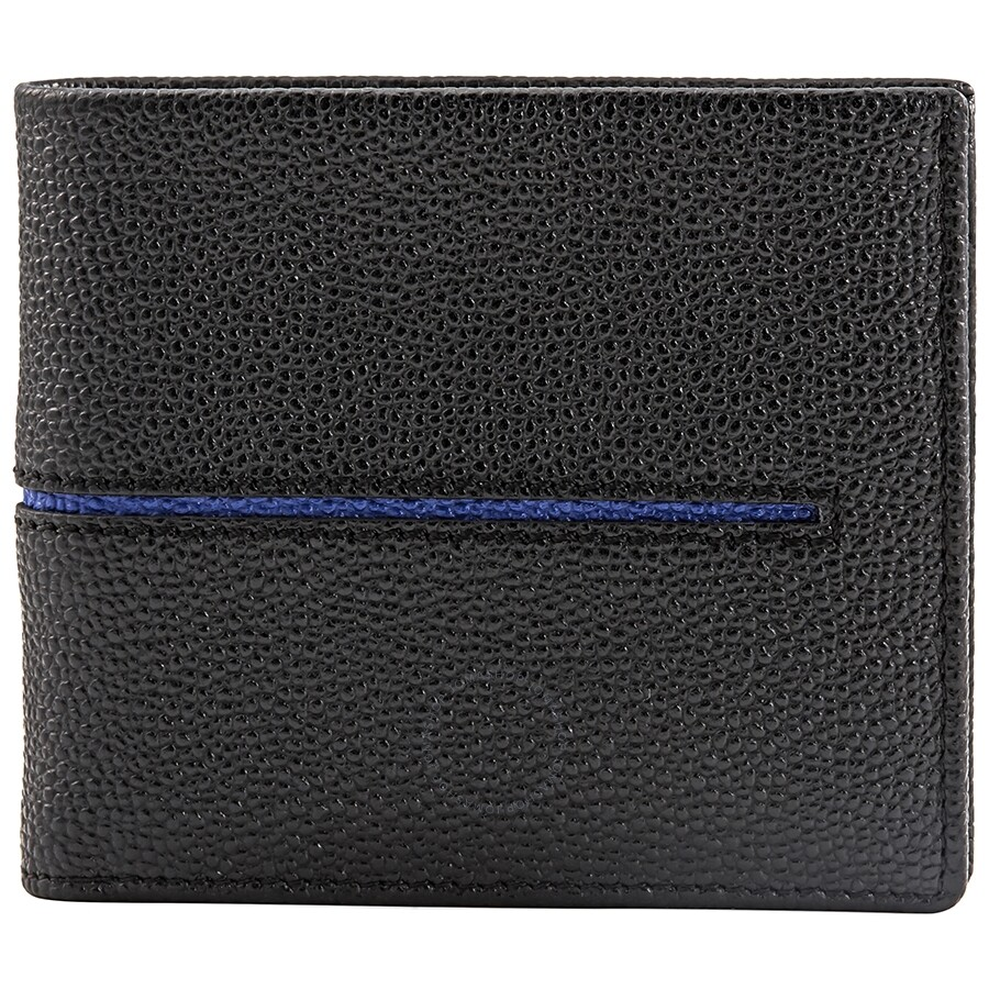 20fa3efd6b TODS Bifold Leather Wallet- Black/Blue - Tods - Handbags - Jomashop
