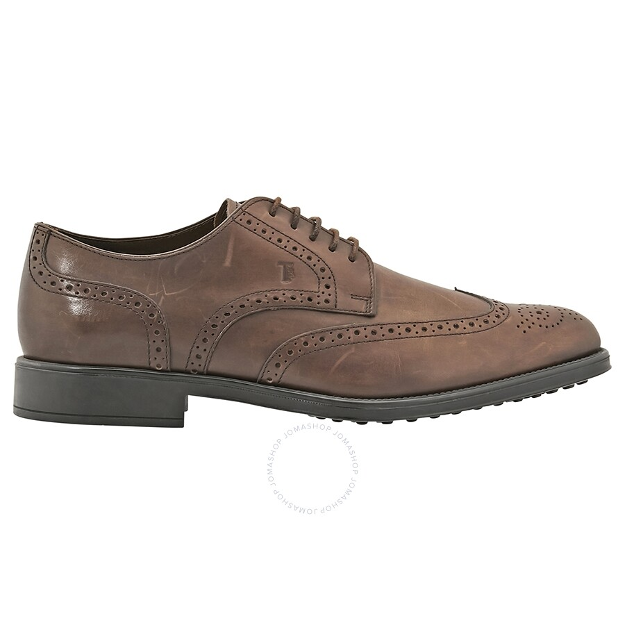 Tods Classic Brogues Dark Brown Size 8 Shoes Fashion Apparel