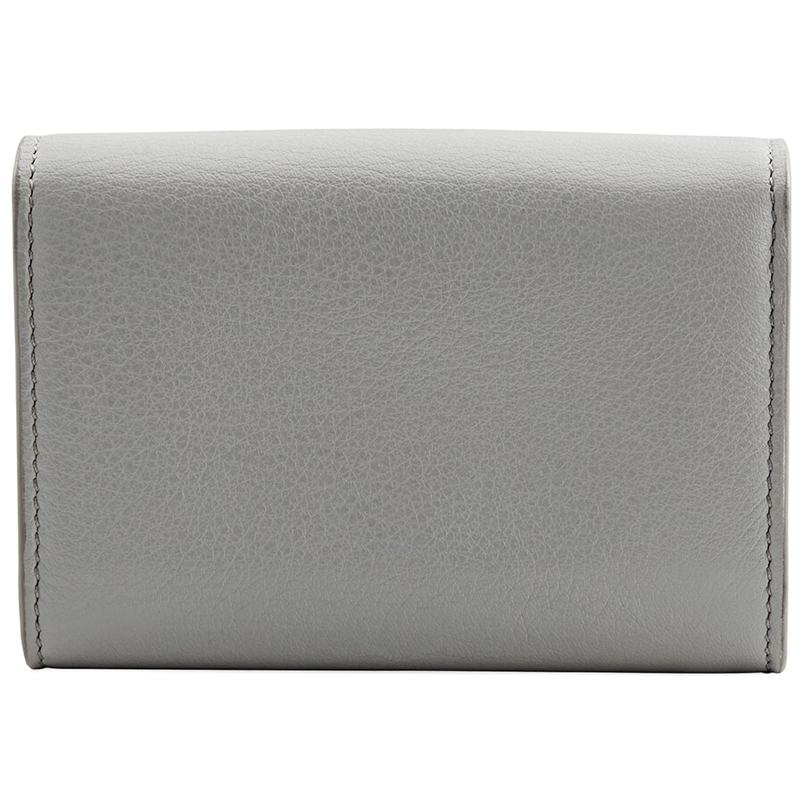 Tods Light Grey Leather Card Case