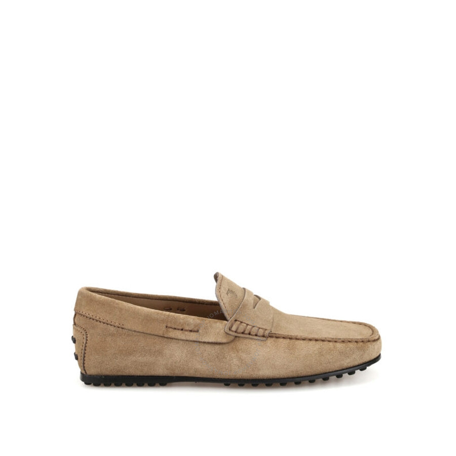 8f1f2265f2fab Tods Men's Brushed Leather Loafers-Peat - Size 11 - Shoes - Fashion ...