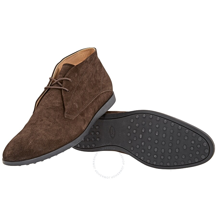 ef24a192c4b63 ... Tods Men's Suede Lace-up Ankle Boots-Dark Brown- Shoe Size: 7.5 ...