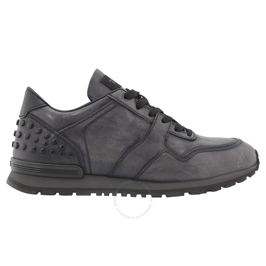 307181d95613 Tods Men s All Dots Spoiler Matt Sneakers- Charcoal XXM0XH0R011SCD ...