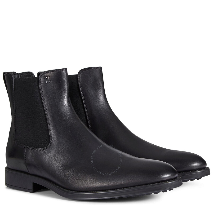 Tods Men\u0027s Black Leather Boots