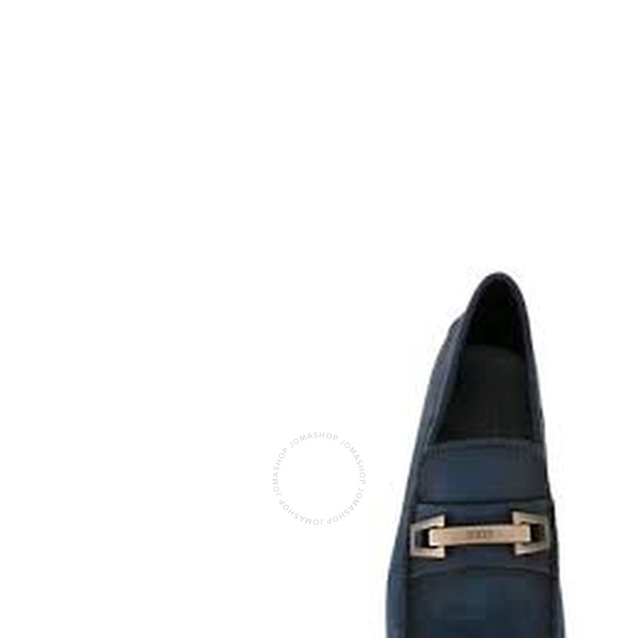 Tods Men/'s Dark Bluette Leather Moccasins