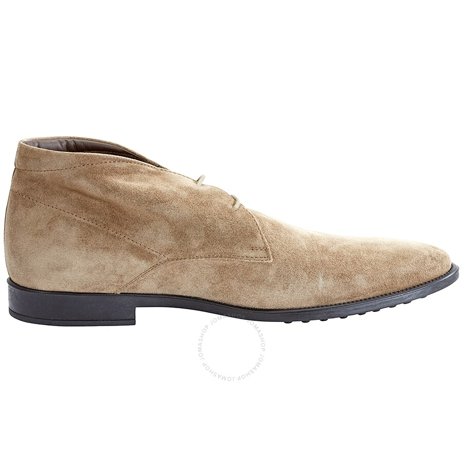Tods Men's Medium Taupe Suede Ankle Boots