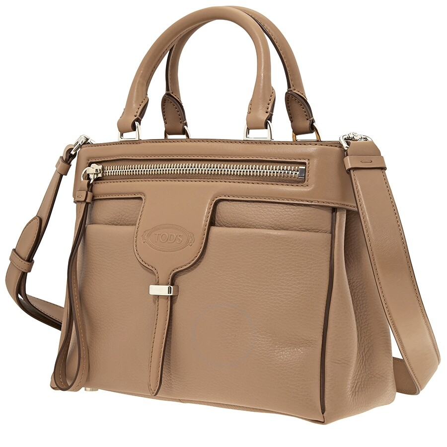 Tods Thea Crossbody Bag Light Brown
