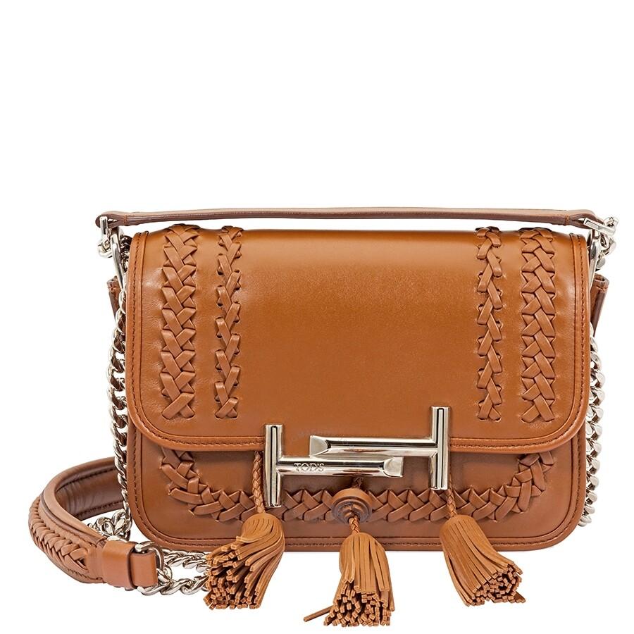 c49db9cd7b Tods Venice Crossbody Bag- Cognac - Tods - Handbags - Jomashop
