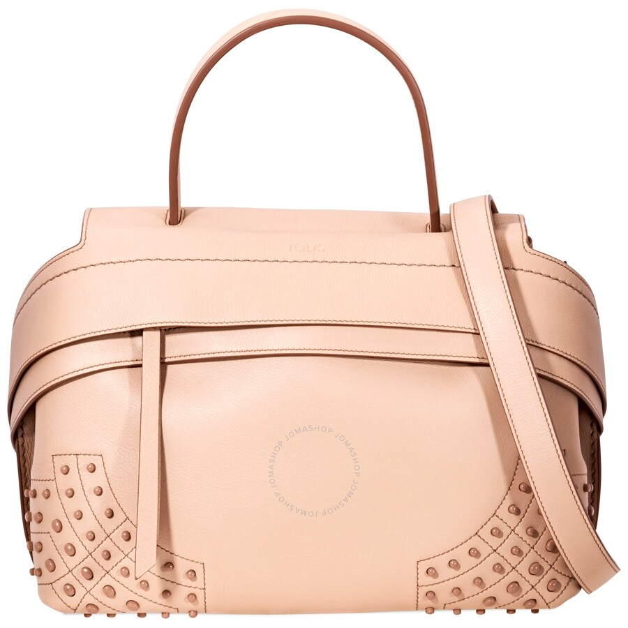 Tods Wave Leather Shoulder Bag