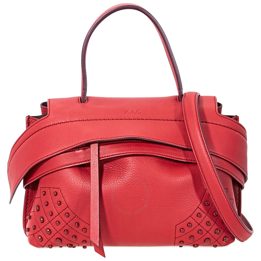 52f4b15dcb Tods Wave Mini Leather Shoulder Bag- Red - Tods - Handbags - Jomashop