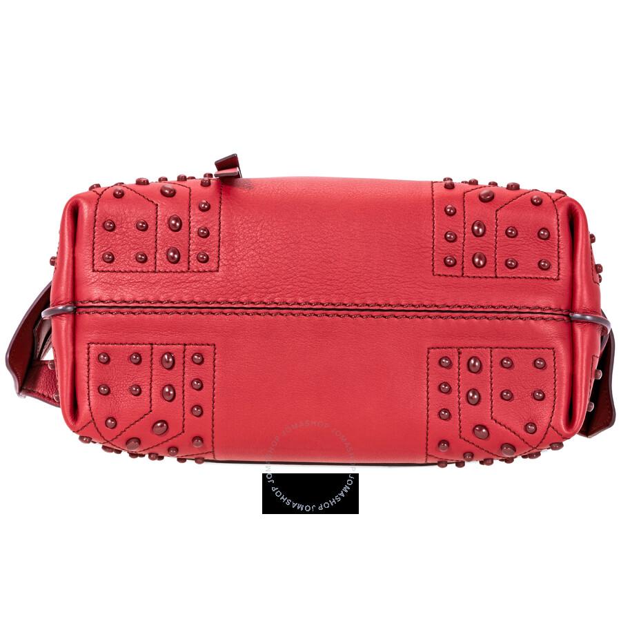 73ff5d8072c Tods Wave Mini Leather Shoulder Bag- Red - Tods - Handbags - Jomashop