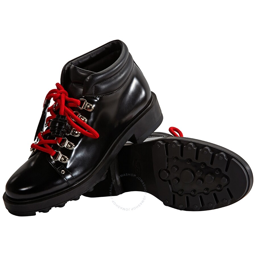 super popular quality products get online Tods Womens Leather Lace-Up Ankle Boots in Black