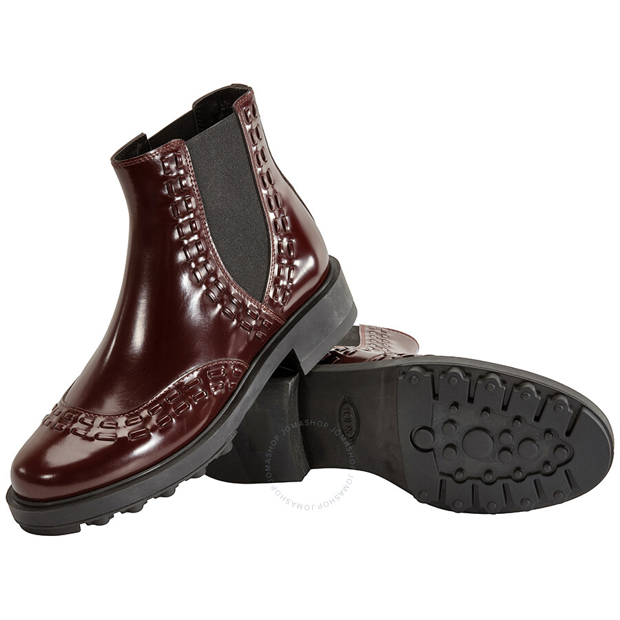 san francisco various styles vast selection Tods Womens Patent Leather Ankle Boots in Medium Must