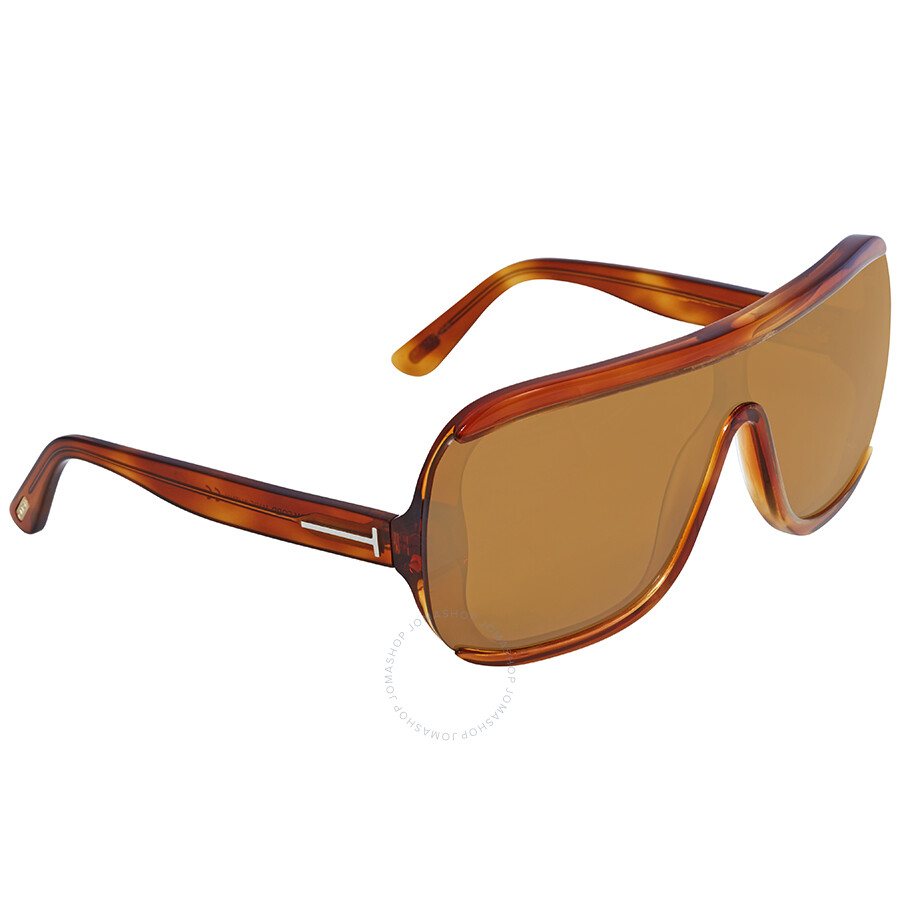 aa0c3ec7d73 Tom Ford Brown Rectangular Sunglasses FT 0559 53E - Tom Ford ...