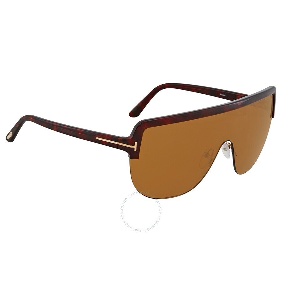 ab0422f210 Tom Ford Brown Rectangular Sunglasses FT 0560 54E - Tom Ford ...