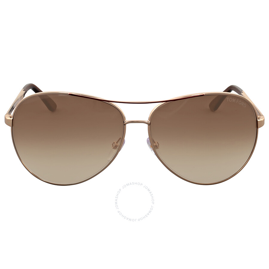 8e703cb3ecc Tom Ford Charles Aviator Rose Gold Sunglasses TF0035-772 - Tom Ford ...