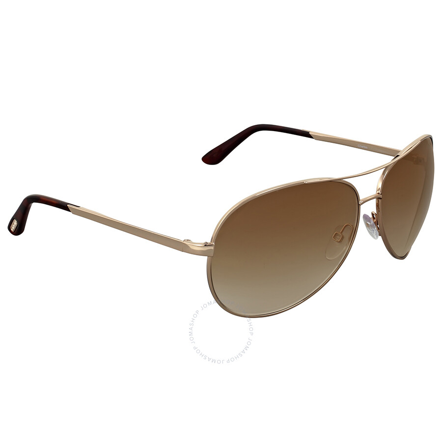ad7a415fda Tom Ford Charles Rose Gold Aviator Sunglasses - Tom Ford ...