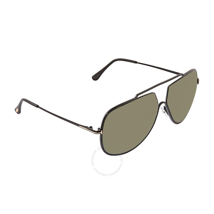 799293518 Tom Ford Chase Green Polarized Aviator Men's Sunglasses Item No. FT0586-01N