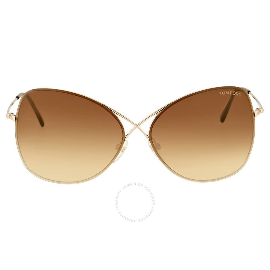 9834ffde32c Tom Ford Colette Rose Gold Butterfly Sunglasses Item No. FT0250 28F