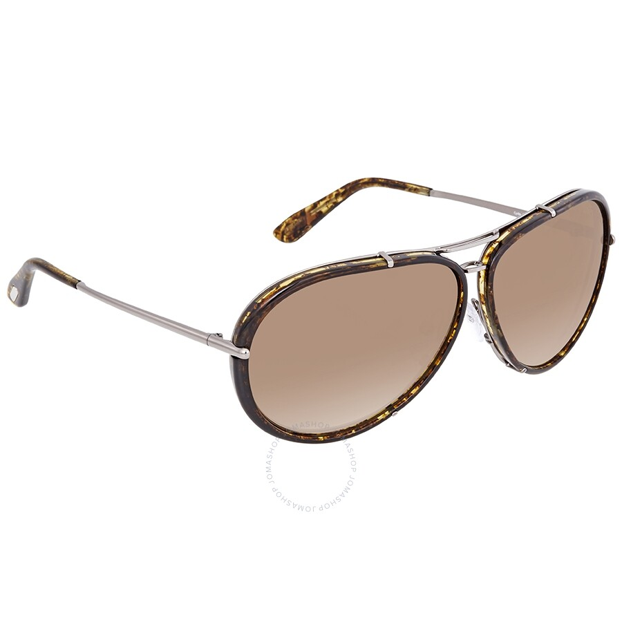 d1880a3144a6f Tom Ford Cyrille FT0109 Brown Gradient Aviator Sunglasses FT0109 14P ...