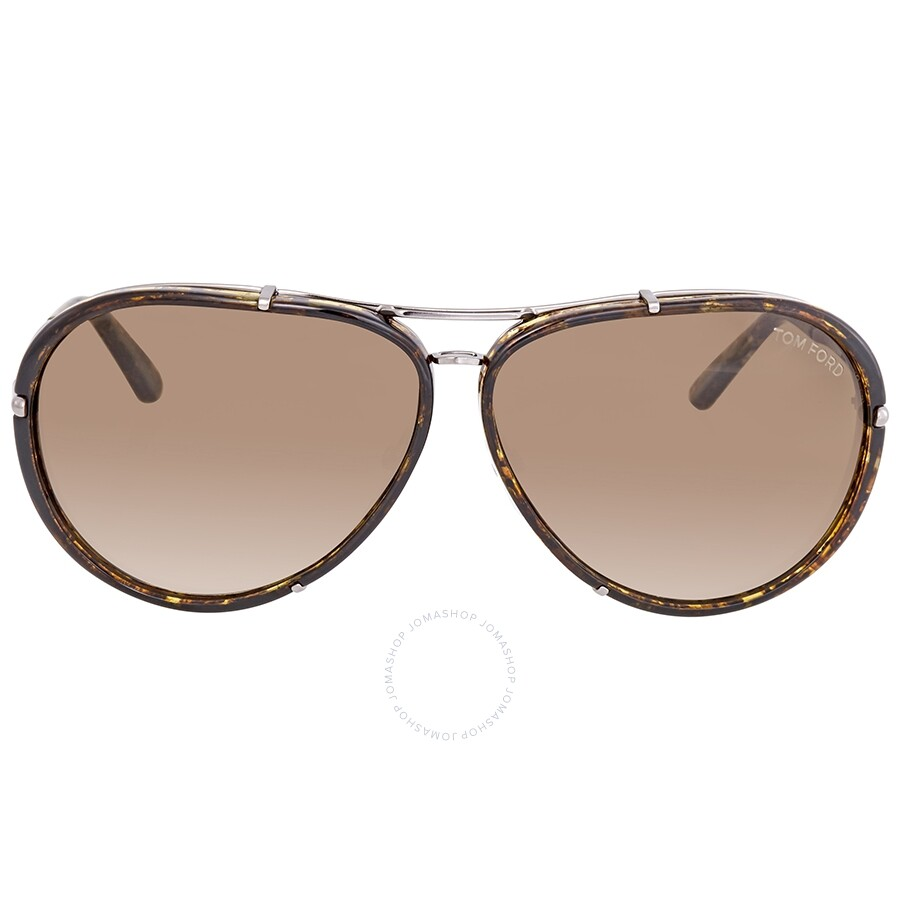c8fd3e2f5a ... Tom Ford Cyrille FT0109 Brown Gradient Aviator Sunglasses FT0109 14P ...