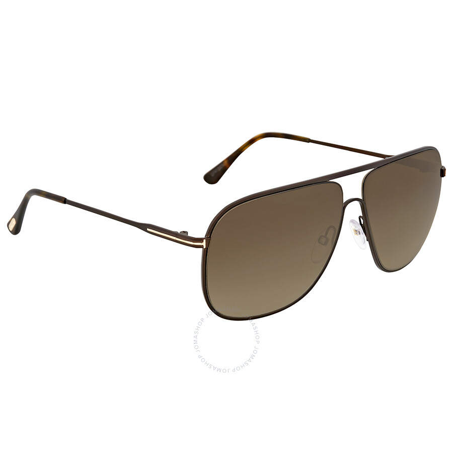 5d1b2ca66b Tom Ford Dominic Matte Brown Sunglasses - Tom Ford - Sunglasses ...