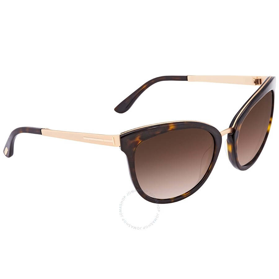 Emma Gradient Frame Cateye Glasses : Tom Ford Emma Brown Gradient Flash Cat Eye Sunglasses ...
