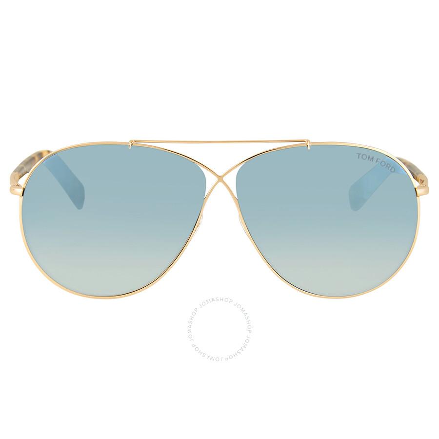 27766c9d6a0 Tom Ford Eva Blue Aviator Sunglasses - Tom Ford - Sunglasses - Jomashop