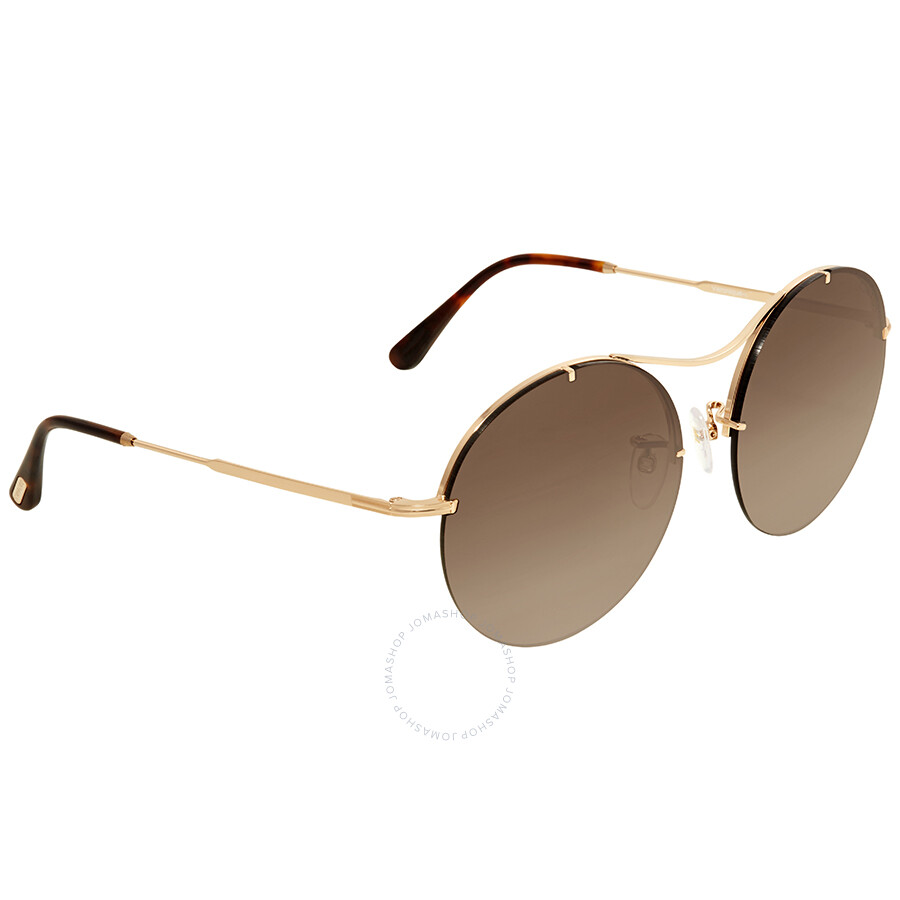 Tom de Ford Brown sol Ft0565 Gradient Georgina gafas 28f redondas ZRwZUq