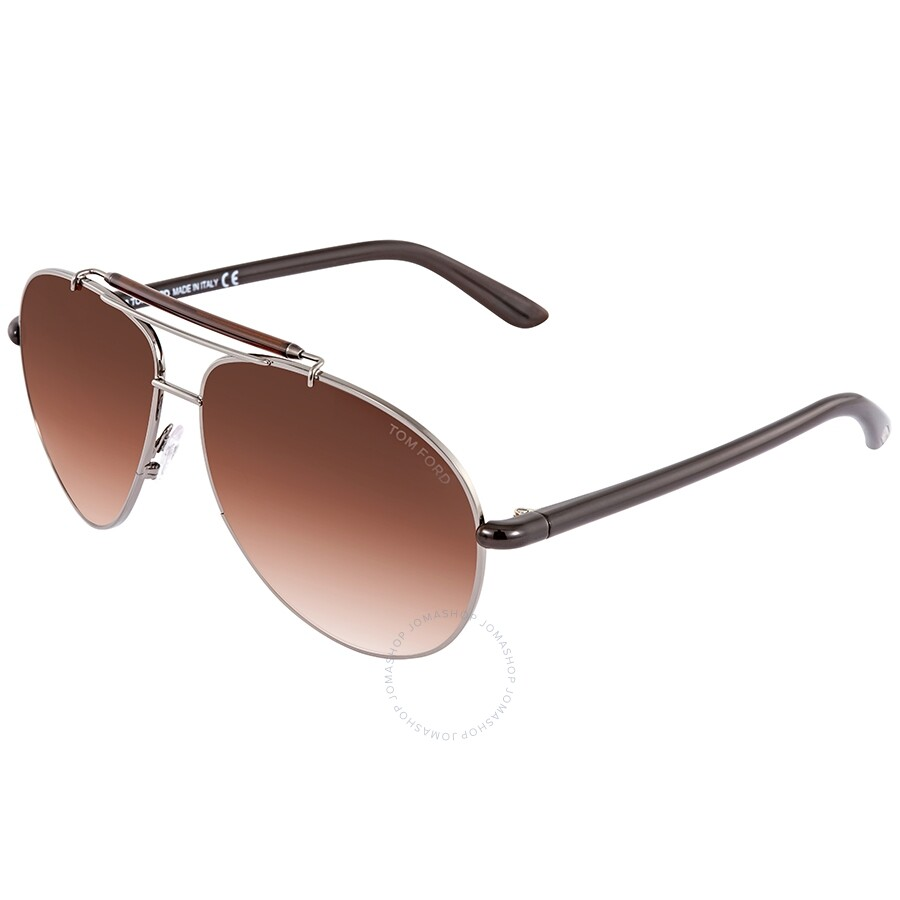 a756e5f0f801 Tom Ford Gradient Brown Aviator Sunglasses FT0244 08F 60 - Tom Ford ...