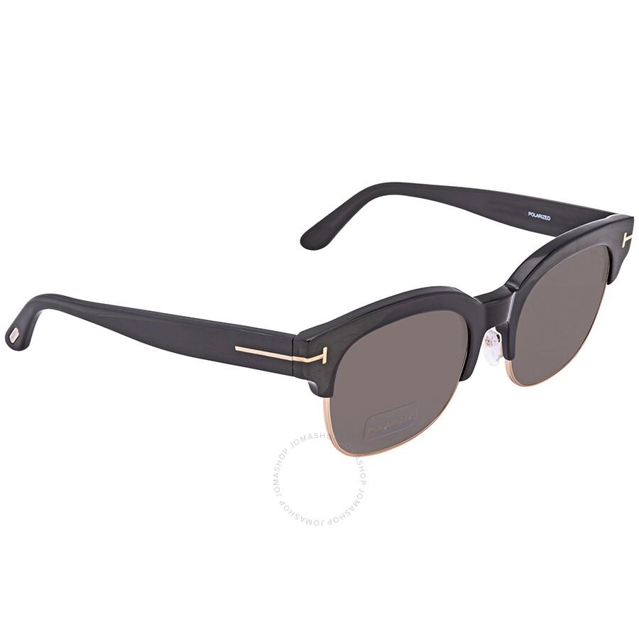 1da77661f147 Tom Ford Harry FT0597 Shiny Black Square Sunglasses FT0597 01D - Tom ...