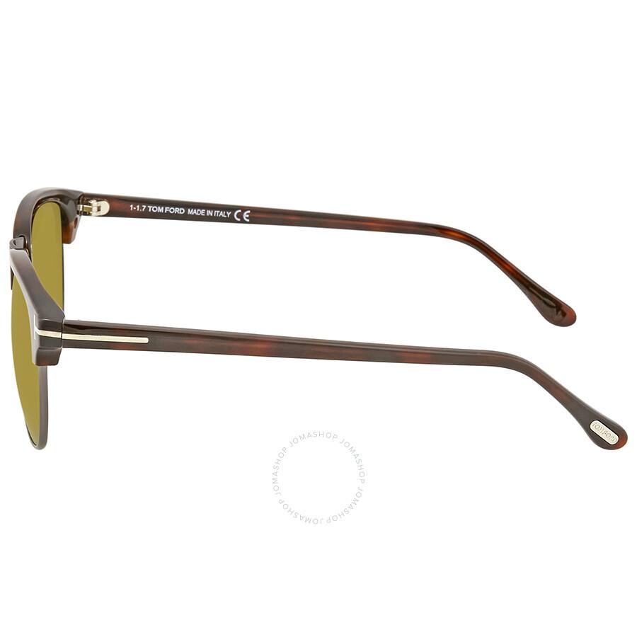 63eac59cd1 Tom Ford Henry Green Yellow Men s Sunglasses FT0248-52N 51 - Tom ...