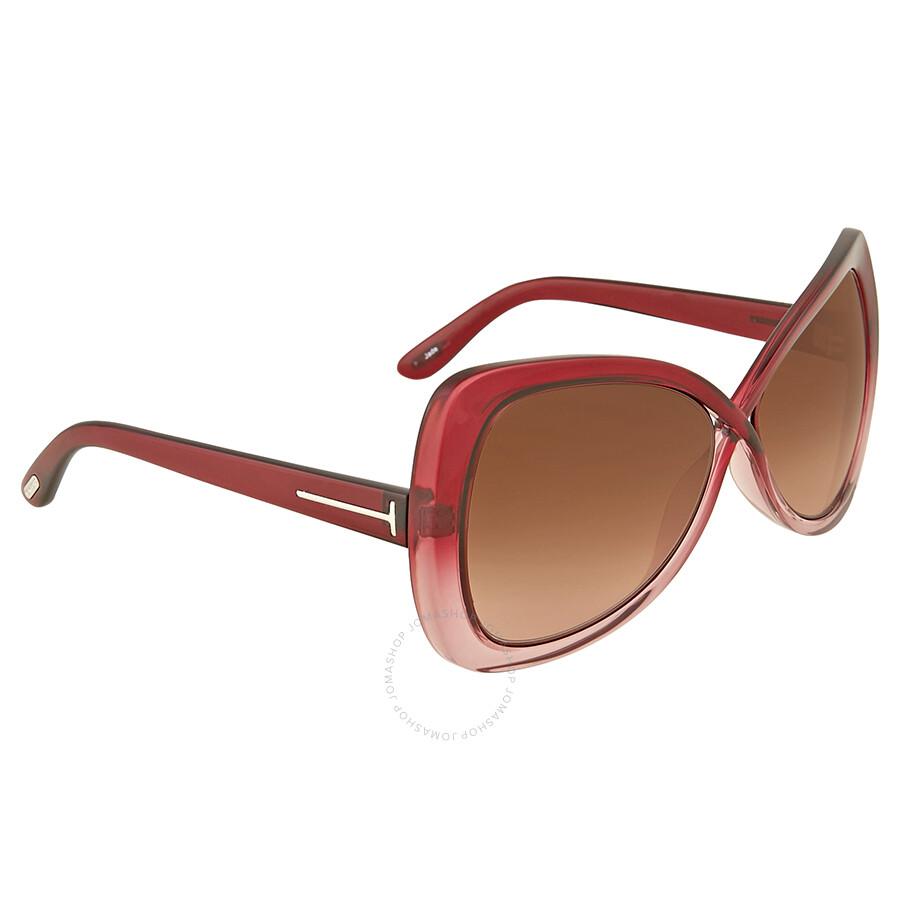 cb33eb6dd2 Tom Ford Jade Red Gradient Sunglasses Tom Ford Jade Red Gradient Sunglasses  ...