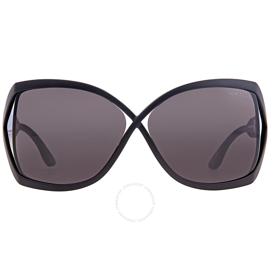 ce996bb973 Tom Ford Julianne Matte Black Sunglasses - Tom Ford - Sunglasses ...