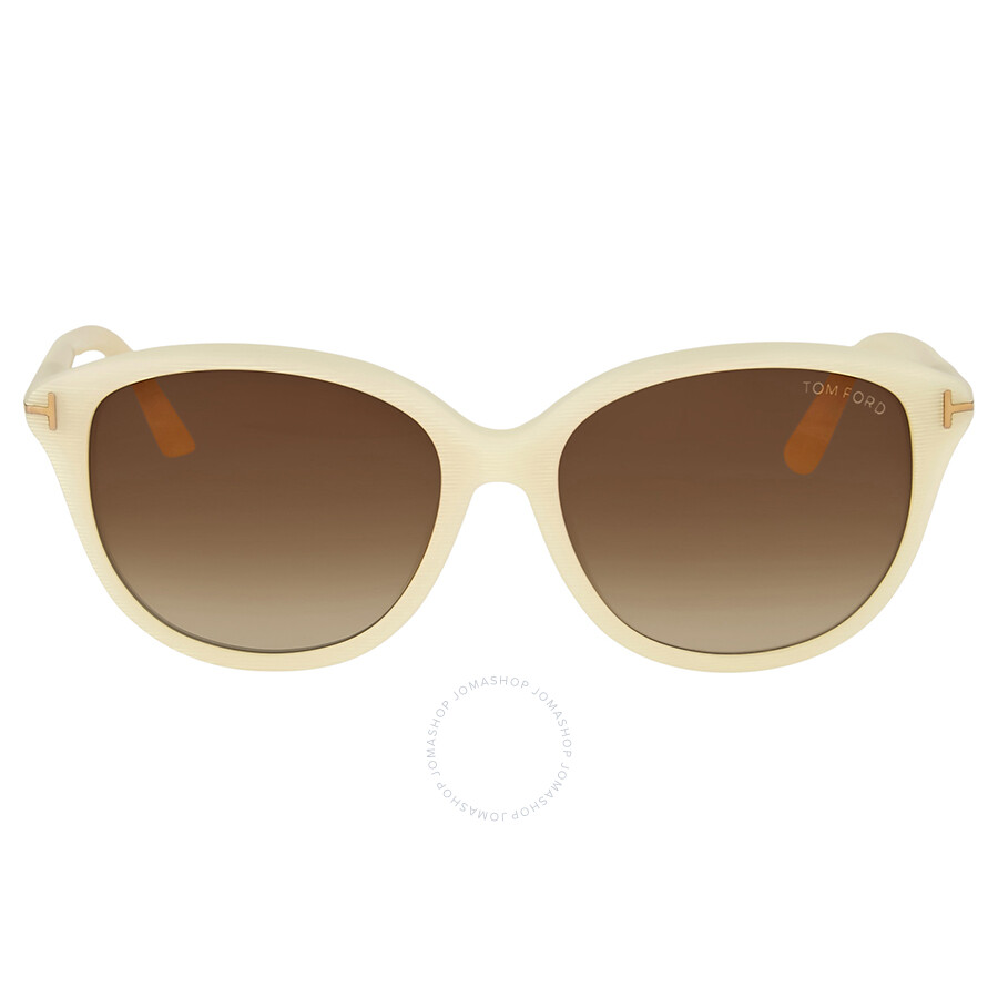 cd25a8d091b0 Tom Ford Karmen Ivory White Sunglasses - Tom Ford - Sunglasses ...