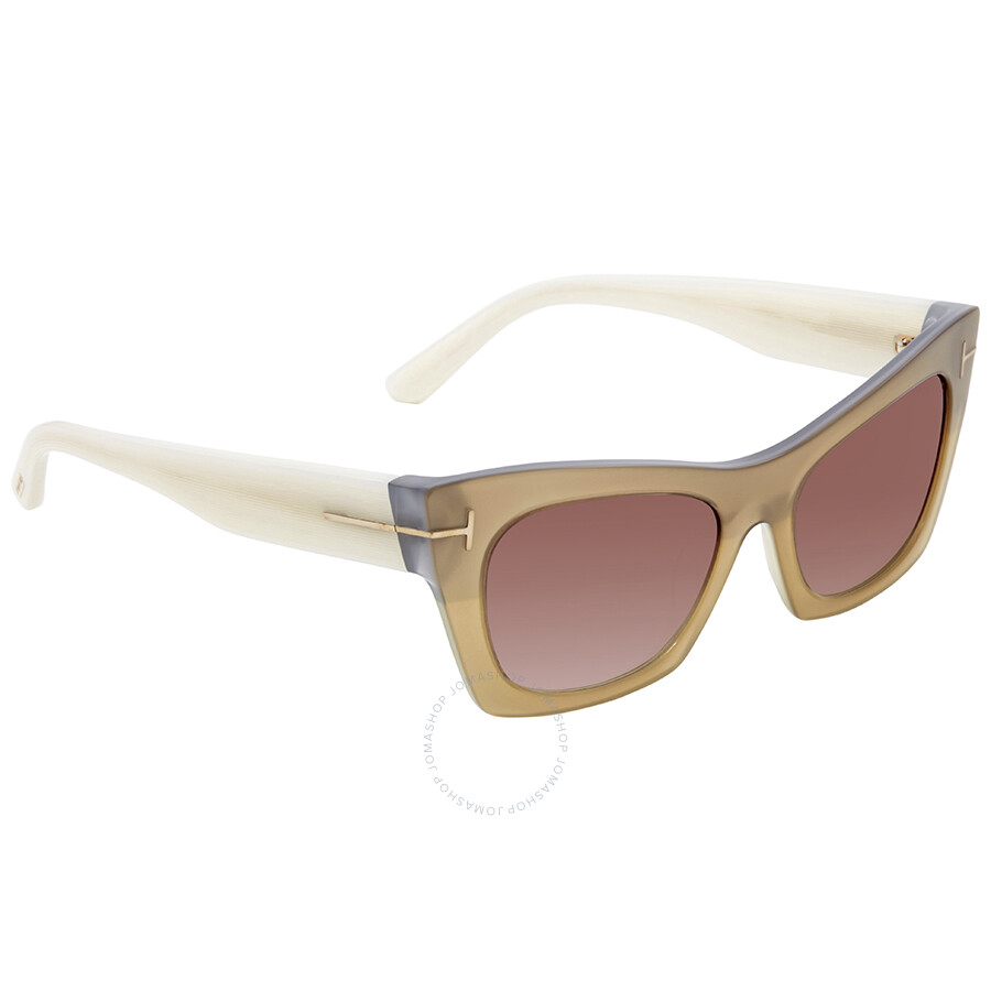 d1b9a9a9b9 Tom Ford Kasia Brown Gradient Rectangular Sunglasses FT0459 38F ...