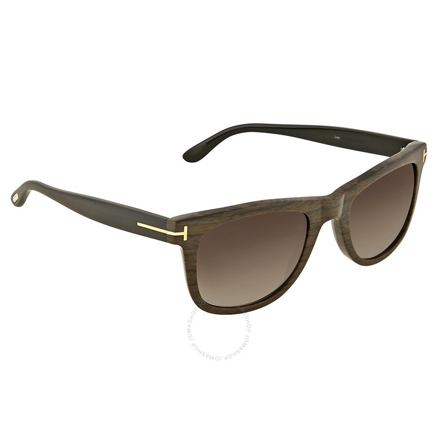 21062c685a14 Tom Ford Leo Brown Gradient Sunglasses Tom Ford Leo Brown Gradient  Sunglasses ...