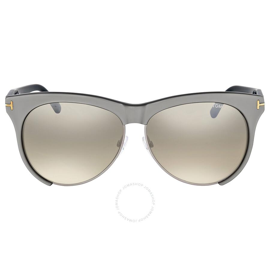 05132d5be77 Tom Ford Leona Brown Mirror Sunglasses - Tom Ford - Sunglasses ...