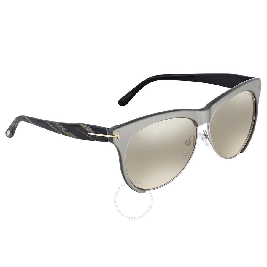 c1cd3285f49 Tom Ford Leona Brown Mirror Sunglasses Tom Ford Leona Brown Mirror  Sunglasses ...