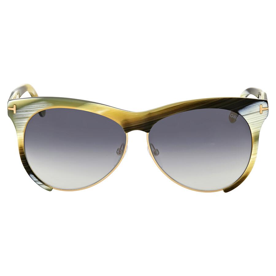 3e78e6281bd Tom Ford Leona Yellow Horn Sunglasses - Tom Ford - Sunglasses - Jomashop