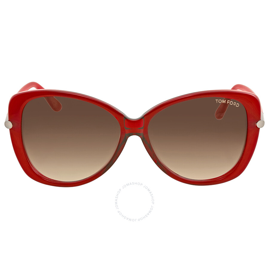 fe8f753274c4 Tom Ford Linda Red Sunglasses - Tom Ford - Sunglasses - Jomashop