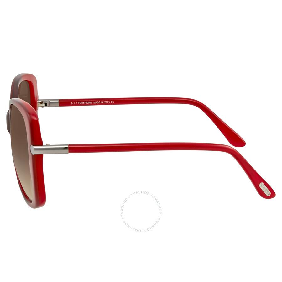 708c40bd37b4a Tom Ford Linda Red Sunglasses - Tom Ford - Sunglasses - Jomashop