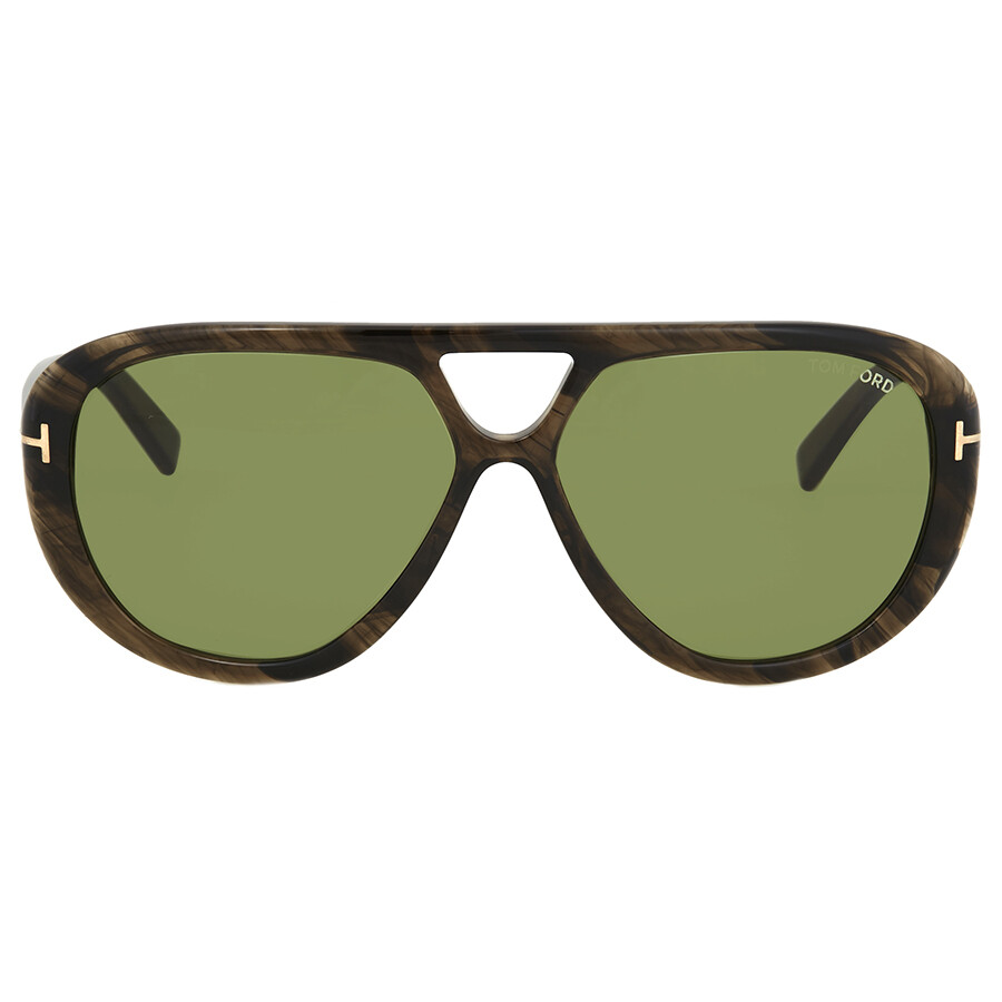 e4ac7fe35c436 Tom Ford Marley Green Aviator Sunglasses FT0510 20N - Tom Ford ...