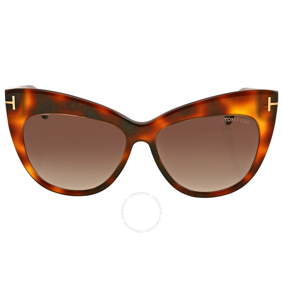 b477fed1f16 Tom Ford Nika Brown Gradient Cat Eye Sunglasses Item No. FT0523 53F