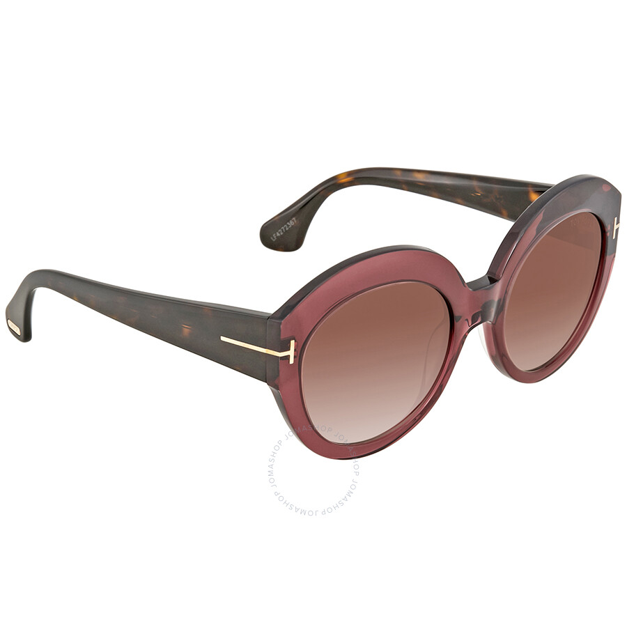 f166ed12d62 Tom Ford Rachel Brown Gradient Round Ladies Sunglasses FT0533 71F ...