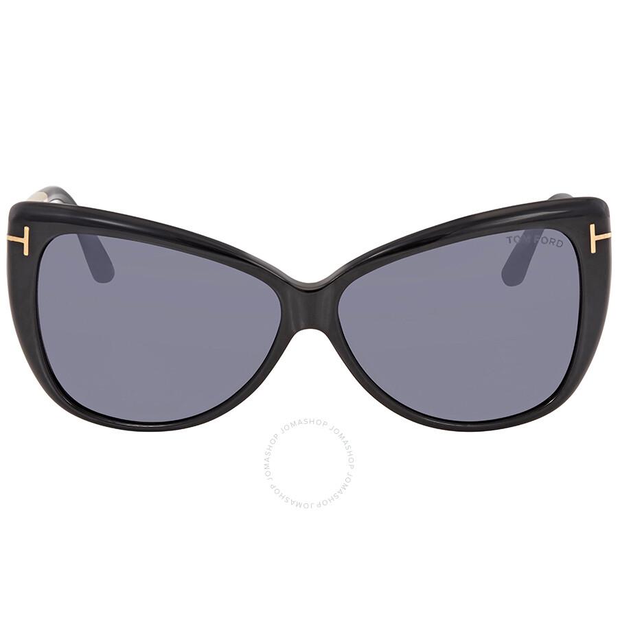 aeb5f43462c11 Tom Ford Reveka Smoke Mirror Cat Eye Sunglasses FT0512 01C - Tom ...