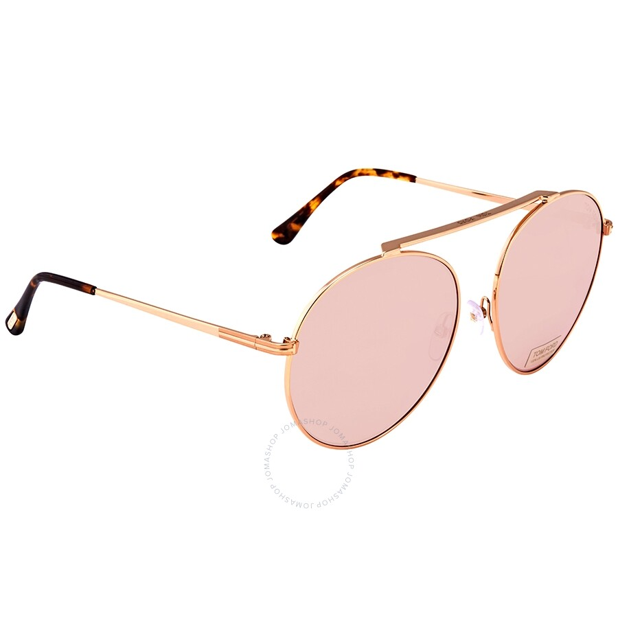 6eabf0735bade Tom Ford Simone Light Pink Round Ladies Sunglasses FT0571 28G - Tom ...