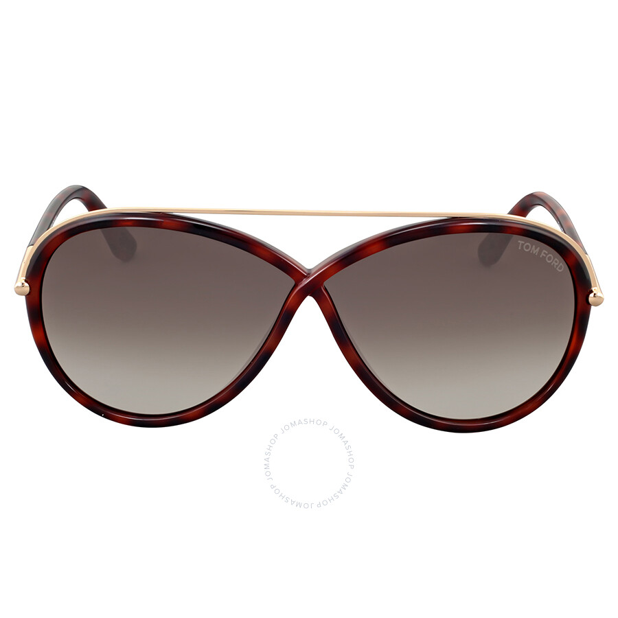 d74b9d01c1 Tom Ford Tamara Dark Havana Sunglasses - Tom Ford - Sunglasses ...