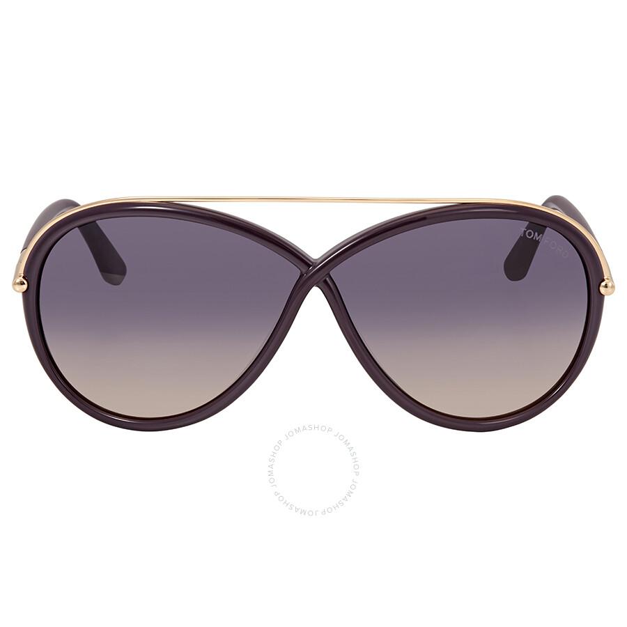 addb6ae4e2fa Tom Ford Tamara Purple Gradient Butterfly Sunglasses FT0454-81Z ...